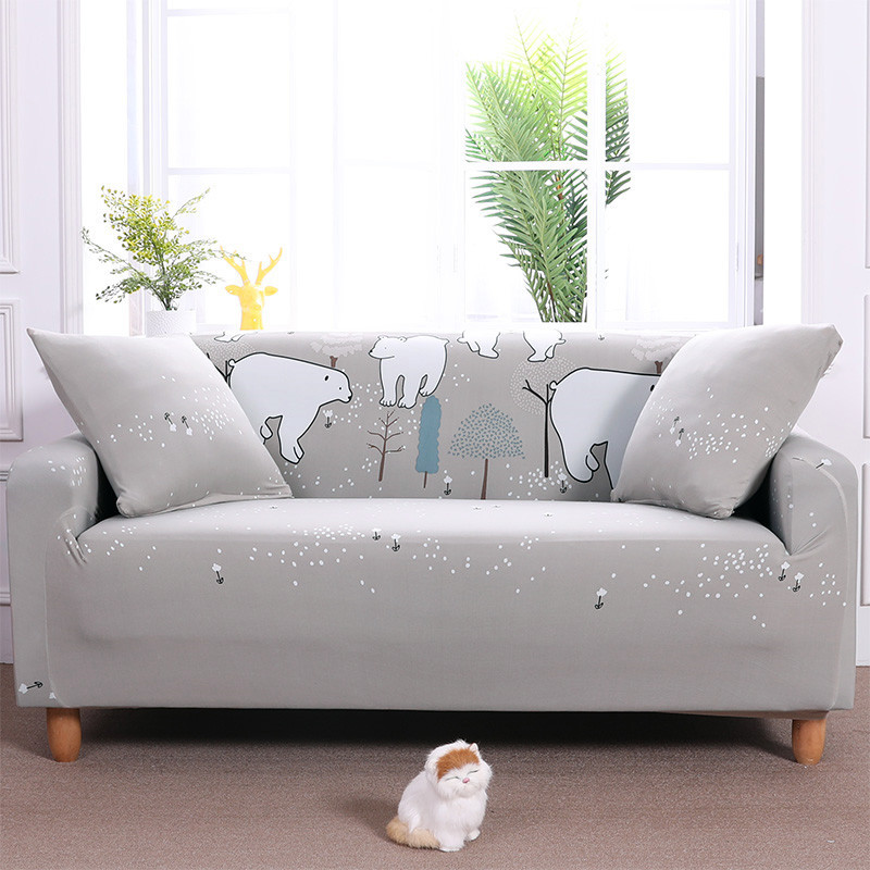Best Promo #c668 - Stretch Sofa Cover Elastic Sectional Sofa ...