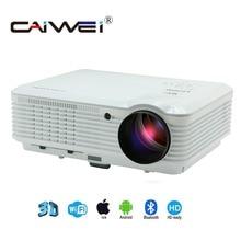 Video Proyector LED Soporte Inalámbrico WiFi 1080 P Full HD de Cine En Casa Proyector de Cine para Juegos de Cine Portátil de Teléfonos Inteligentes