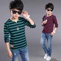 Raya de los muchachos Camisetas Niños del Algodón Blusas de Manga Larga Camisetas De Niños Camisetas 2017 Escuela de Primavera Niños Tops 4 6 8 9 10 12 Años