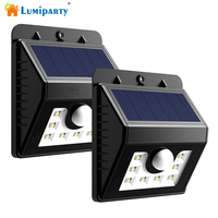 Solar Lights LED Motion Sensor Wall Light Bright Weatherproof Wireless Security Outdoor Light With Motion Activated