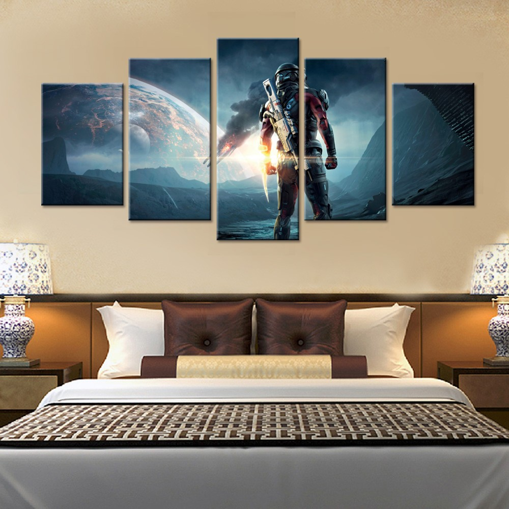 popular mass homes buy cheap mass homes lots from china mass homes 5 pieces canvas game poster mass effect andromeda home decor painting modern canvas printed pictures artwork