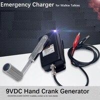 Рукоятки генератора, Портативный Питание, аварийный Зарядное устройство, крепкого сложения литья Алюминий шасси в случае черный