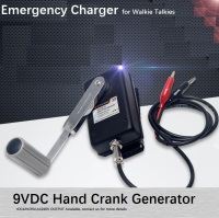 Hand Crank Generator, Portable Power Supply, Emergency Charger, Sturdy Build of Casting Aluminum Chasis Case in Black