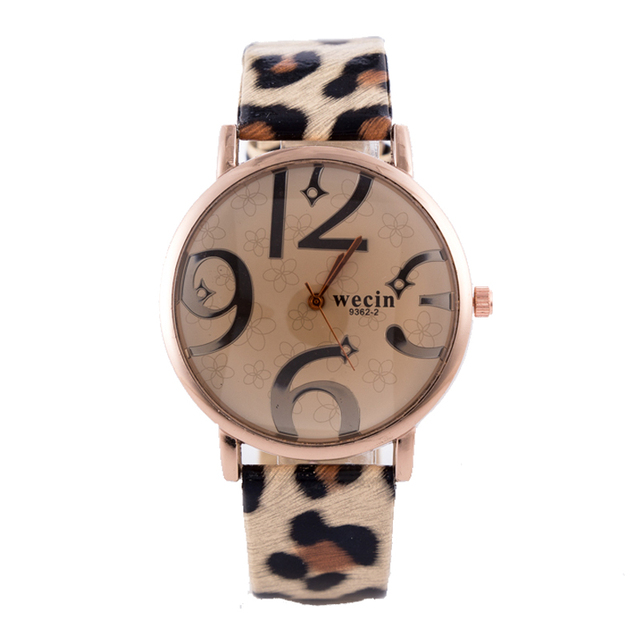 2018 New Fashion Women Watches Leopard print Leather Band Analog Quartz Watch la