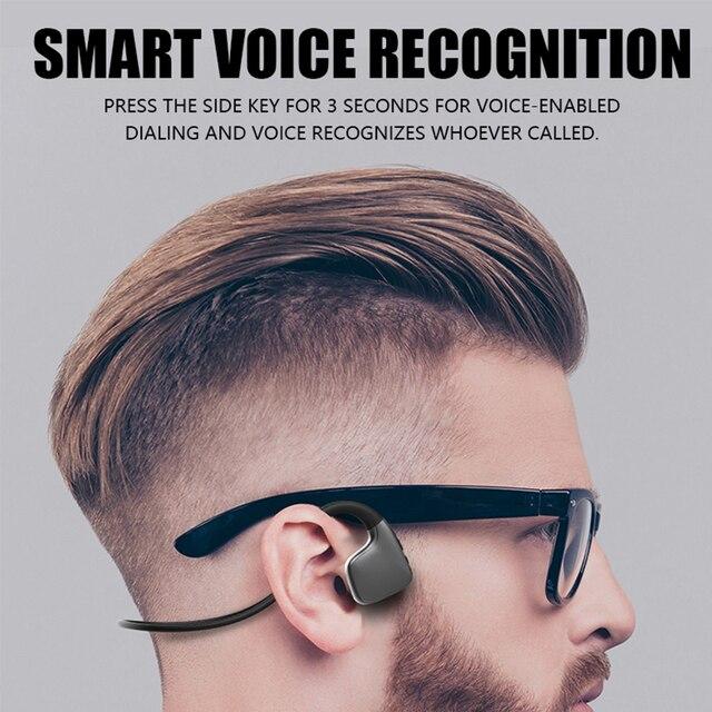 מקורי אוזניות Bluetooth 5.0 הולכה עצם אוזניות אלחוטי ספורט אוזניות דיבורית אוזניות תמיכת זרוק חינם