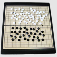 พับเกมหมากรุกไปเกม19*19กล่องสีดำ/สีขาวชิ้นที่มีคุณภาพสูงพลาสติก/แม่เหล็กที่ดีที่สุดสำหรับเ...