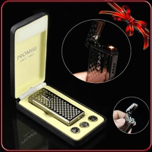 Classic Tartan Design Touch Induction Switch Cigar Cigarette Smoking Windproof Jet Flame Lighter