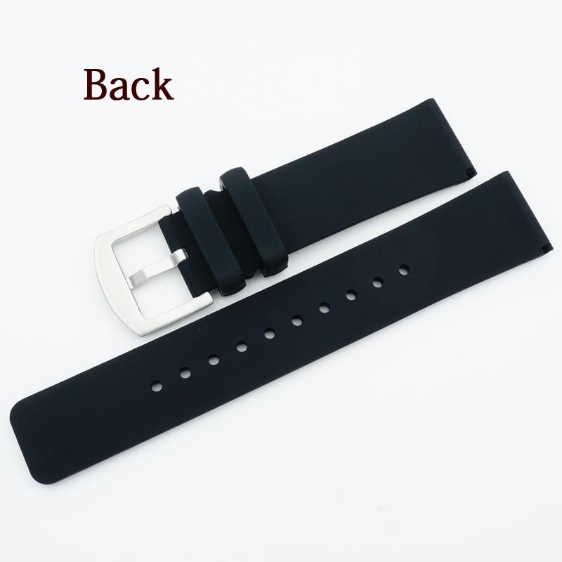 MAIKES 22 mm mehka udobna silikonska ura trak moški visokokakovostni - Dodatki za ure - Fotografija 2