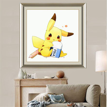 DIY Diamond Embroidery Pokemon Hand Made Cross Stitch Painting