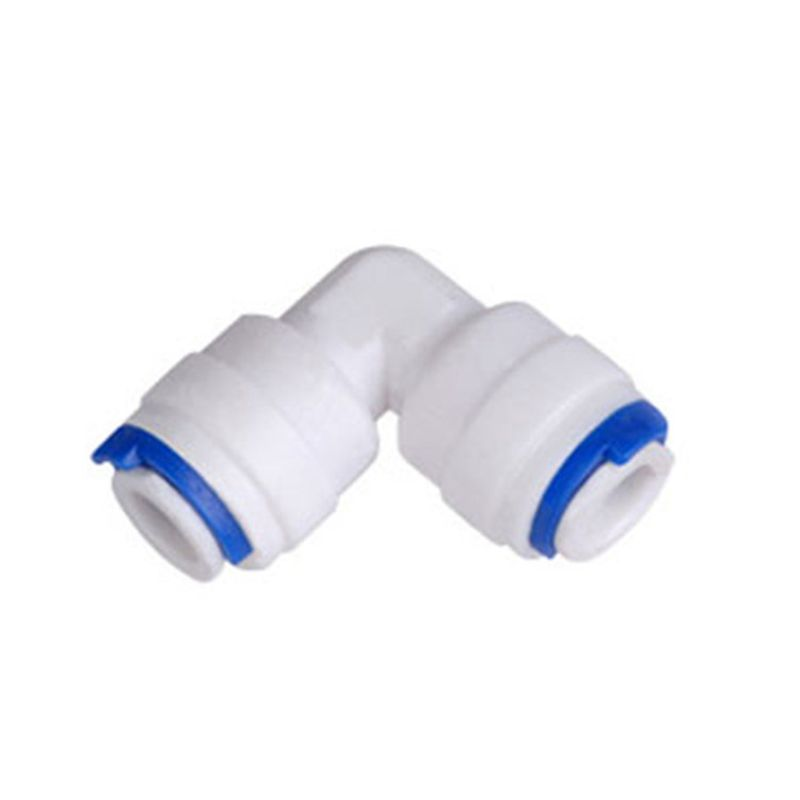 1/4'' - 1/4'' OD Tube PE Pipe Fitting Hose Elbow Quick Connector Aquarium RO Water Filter Reverse Osmosis System