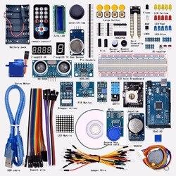 Бесплатная доставка Супер Мега 2560 стартовый набор для Arduino 1602LCD RFID реле моторный зуммер