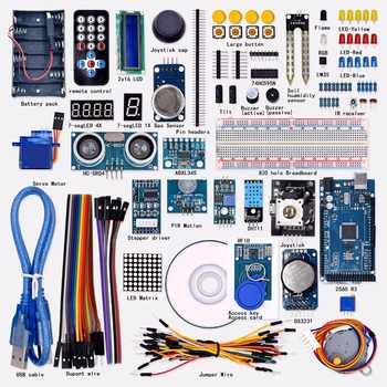 Free shipping Super Mega 2560 Starter Kit for Arduino 1602LCD RFID Relay Motor Buzzer - DISCOUNT ITEM  15% OFF All Category