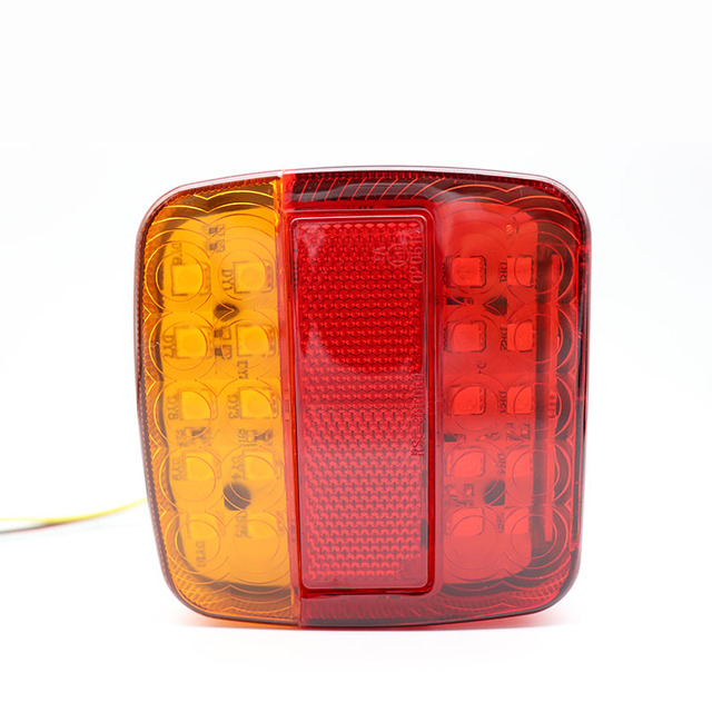 2pcs 12V Trailer Truck Caravan 26LED Taillight Tail Light Turn Signal Indicator Brake Stop Lamp Number Plate Light Rear Reverse 2