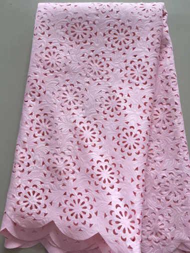 Neue mode französisch laser cut spitze stoff mit nigerianischen gelb spitze stoff für kleider schöne handcut voile spitze ALL3137