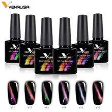 #70511 CANNI Newest nail art 6 spark color starry Metal Chameleon Colors Change Color Magnetic Cat Eyes Gel Polish top coat