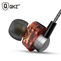 QKZ DM8 Earphones Mini Dual Driver Original Hybrid Dual Dynamic Driver In Ear Earphone Mp3 DJ