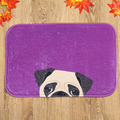 Purple Dog Face Plush Fabric Door Mat Home Decorative Carpet for Living Room Bedroom Bathroom Anti-slip Alfombras Tapetes