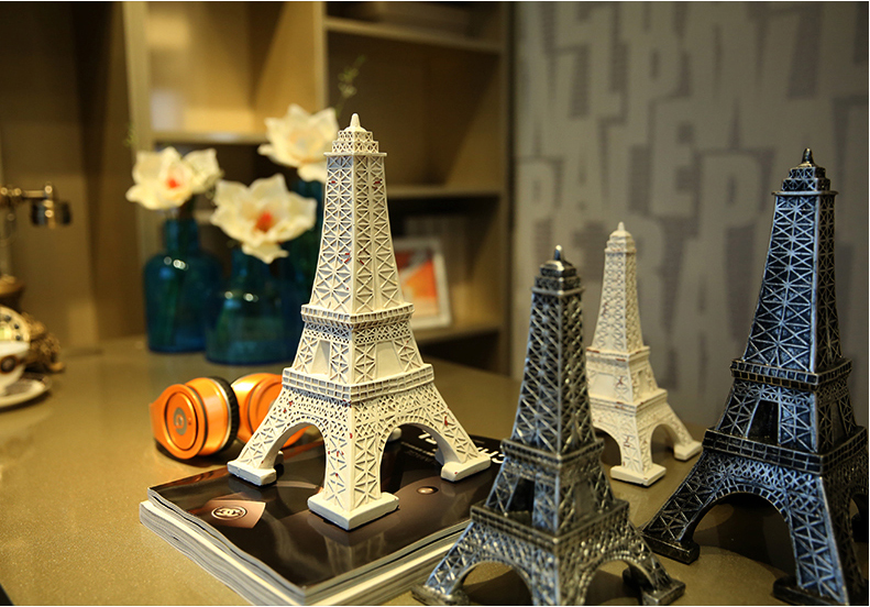 Tour Eiffel Statue Sculpture Paris décor résine fournitures maison ornement