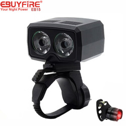 EBUYFIRE EB15 Bike Light 2LED Bicycle Lamp 300LM 1200mAh USB Rechargeable Cycling Lights LED Bike headlight