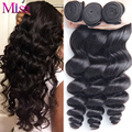 Virgin Peruvian Hair Loose Wave 4 Bundles Peruvian Loose Wave Virgin Hair Top 8A Grade Virgin Unprocessed Human Hair Extensions