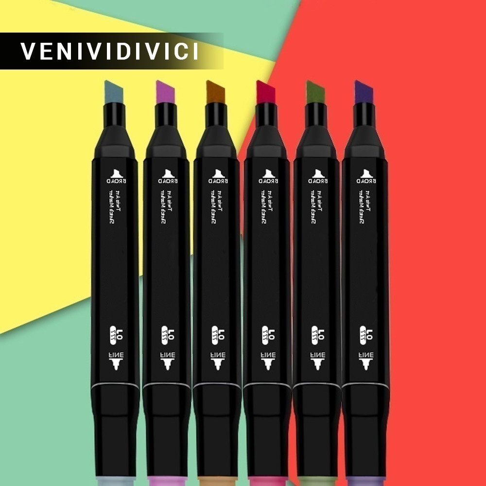 Hot Sale Hot new products LSH Three generations of pen set double head alcohol oily 60 and 80 color marker NEW