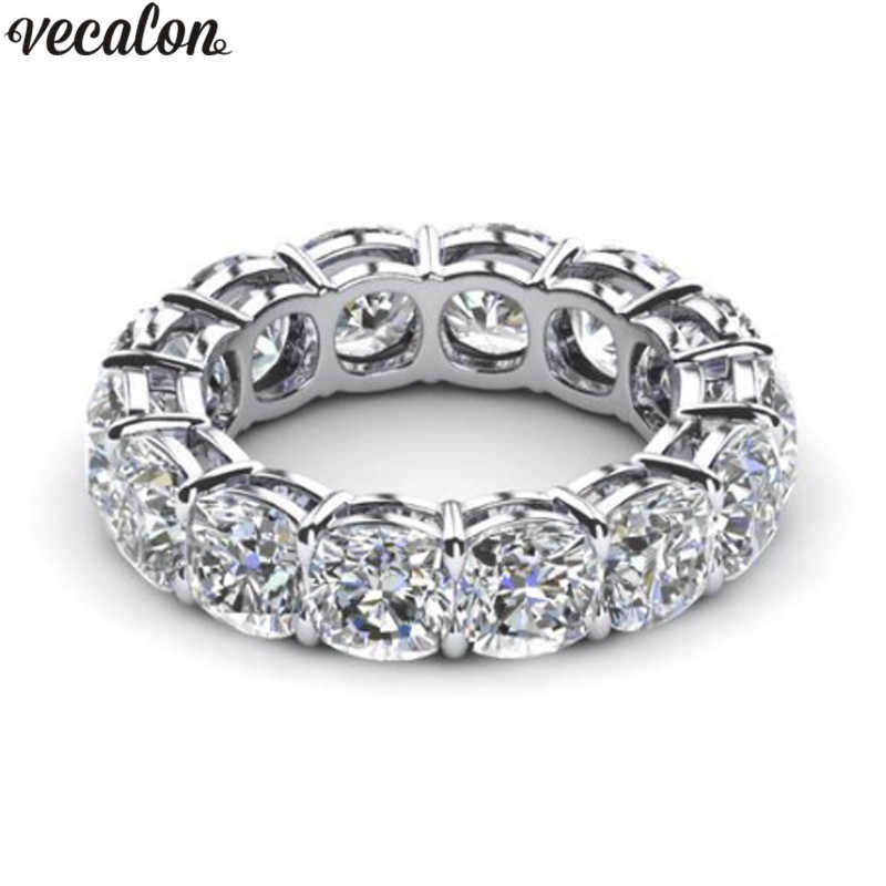 Vecalon 10 styles Classic Wedding Band Ring 925 Sterling Silver 5A Zircon Cz Engagement rings for women men Dropshipping Jewelry