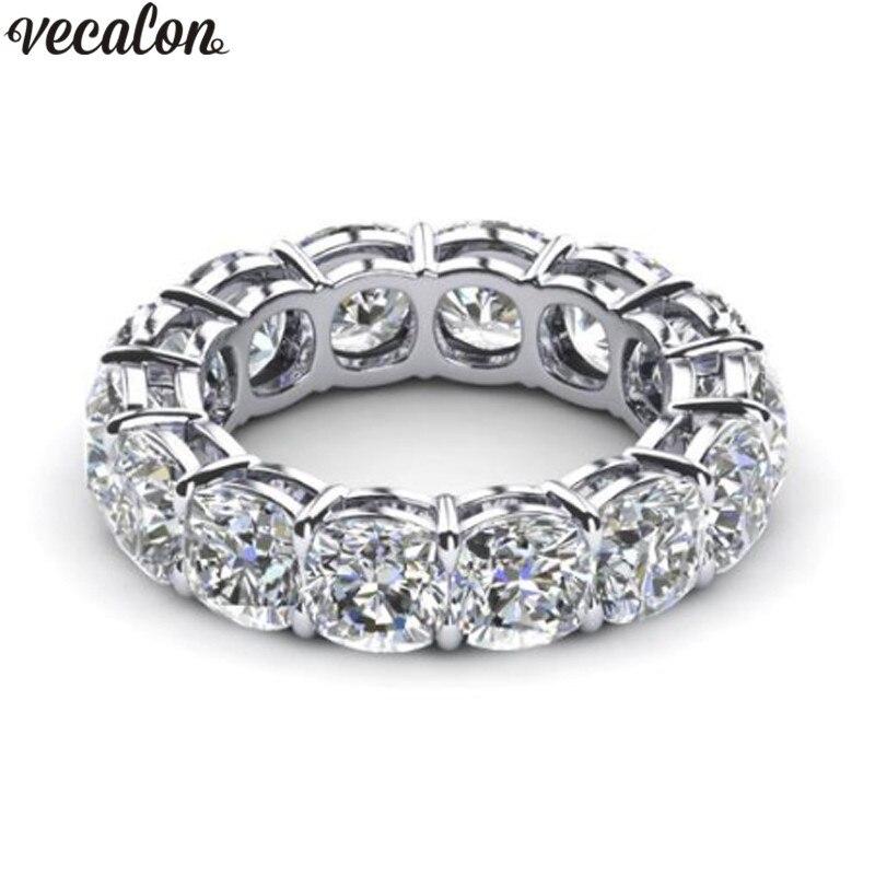 Vecalon 10 stile Klassische Hochzeit Band Ring 925 Sterling Silber 5A Zirkon Cz Verlobung ringe für frauen männer Dropshipping Schmuck