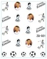 2015 diseño de La Bandera 20 hoja/LOT Cristiano Ronaldo Copa Mundial de la Bandera ETIQUETA DEL AGUA DEL ARTE Del Clavo Accesorios Fútbol Serie tatuaje
