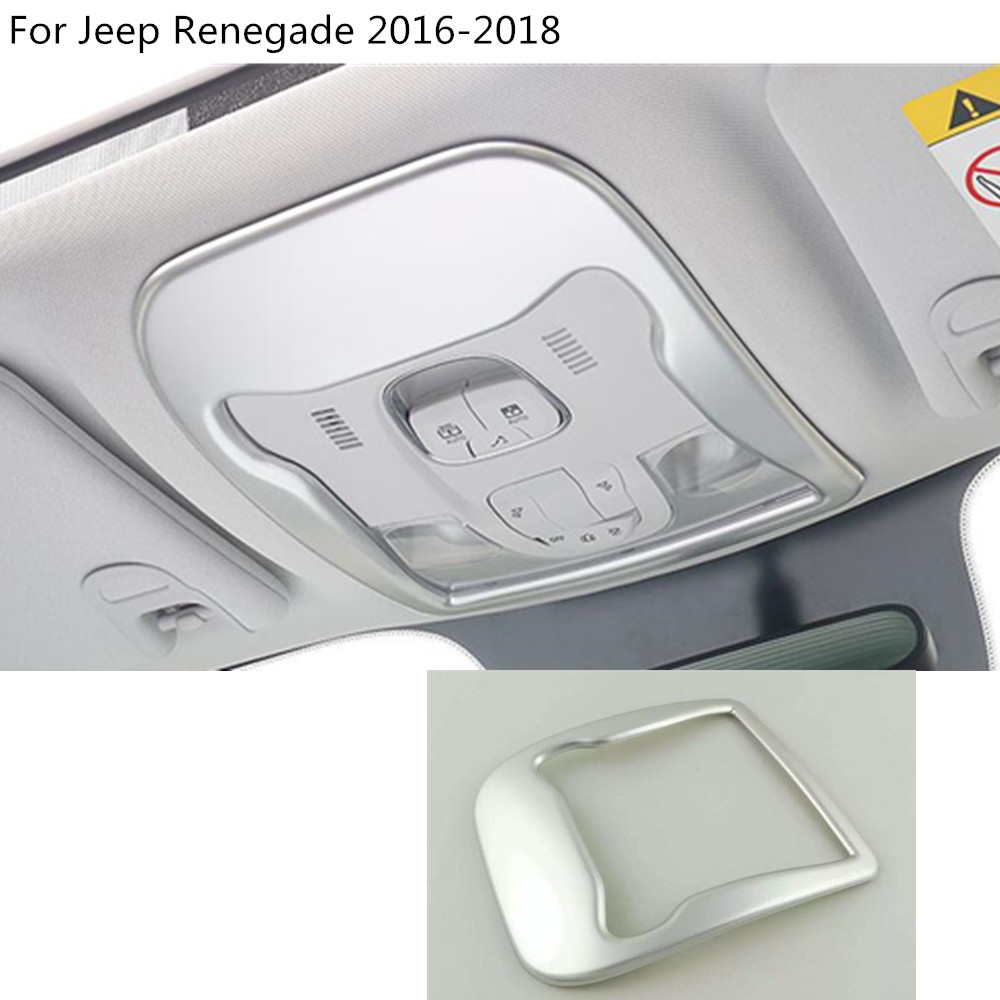 car styling cover detector stick front head to roof read reading light lamp trim moulding For Jeep Renegade 2016 2017 2018