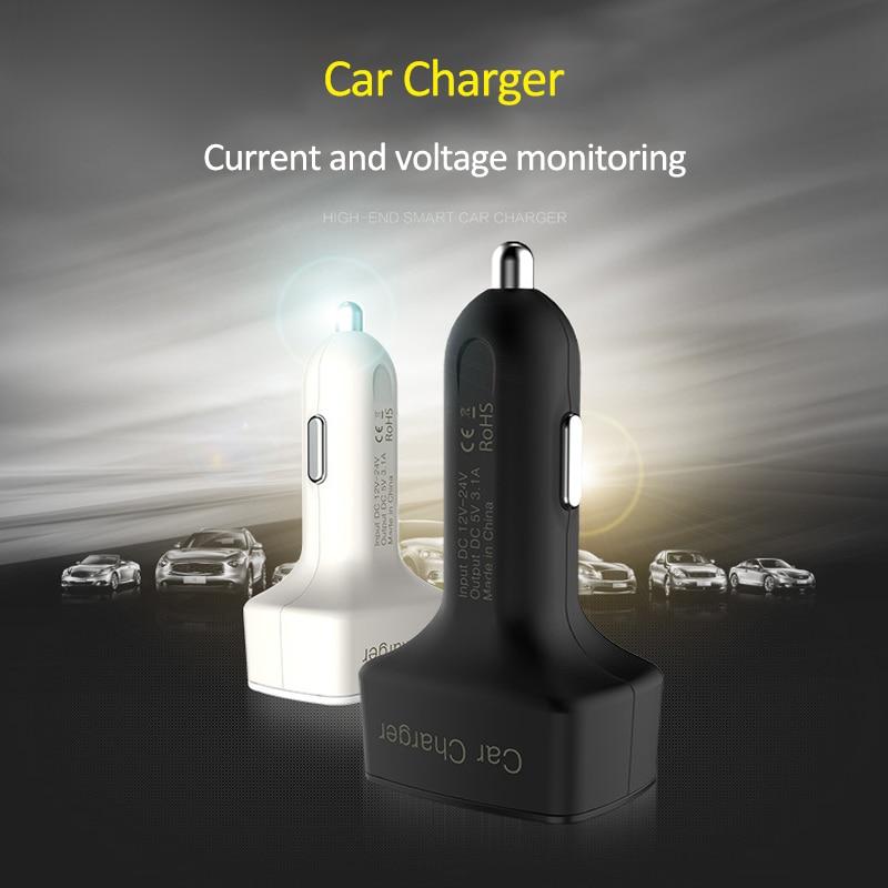 4 in 1 Caricatore per auto doppio USB Voltmetro Volt Misuratori di - Strumenti di misura - Fotografia 2