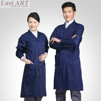 Lab coat Men women navy blue new design fashion work nurse medical lab coat new lab supplies AA019