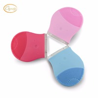 Silicone Facial Cleansing Brush Face Brush Cleanser Electric Massage Machines Deep Cleaning Device Recharge Mini Size