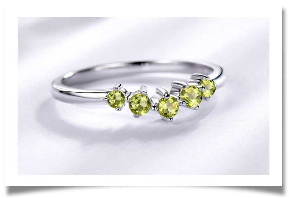 925 sterling silver natural peridot ring(4)
