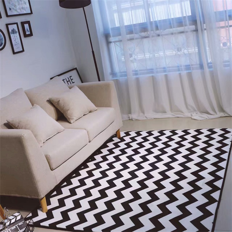 Modern Simplicity Black White Chevron Bear Living Room Bedroom Decorative Carpet Area Rug Bathroom Foot Door Yoga Play Mat Pad