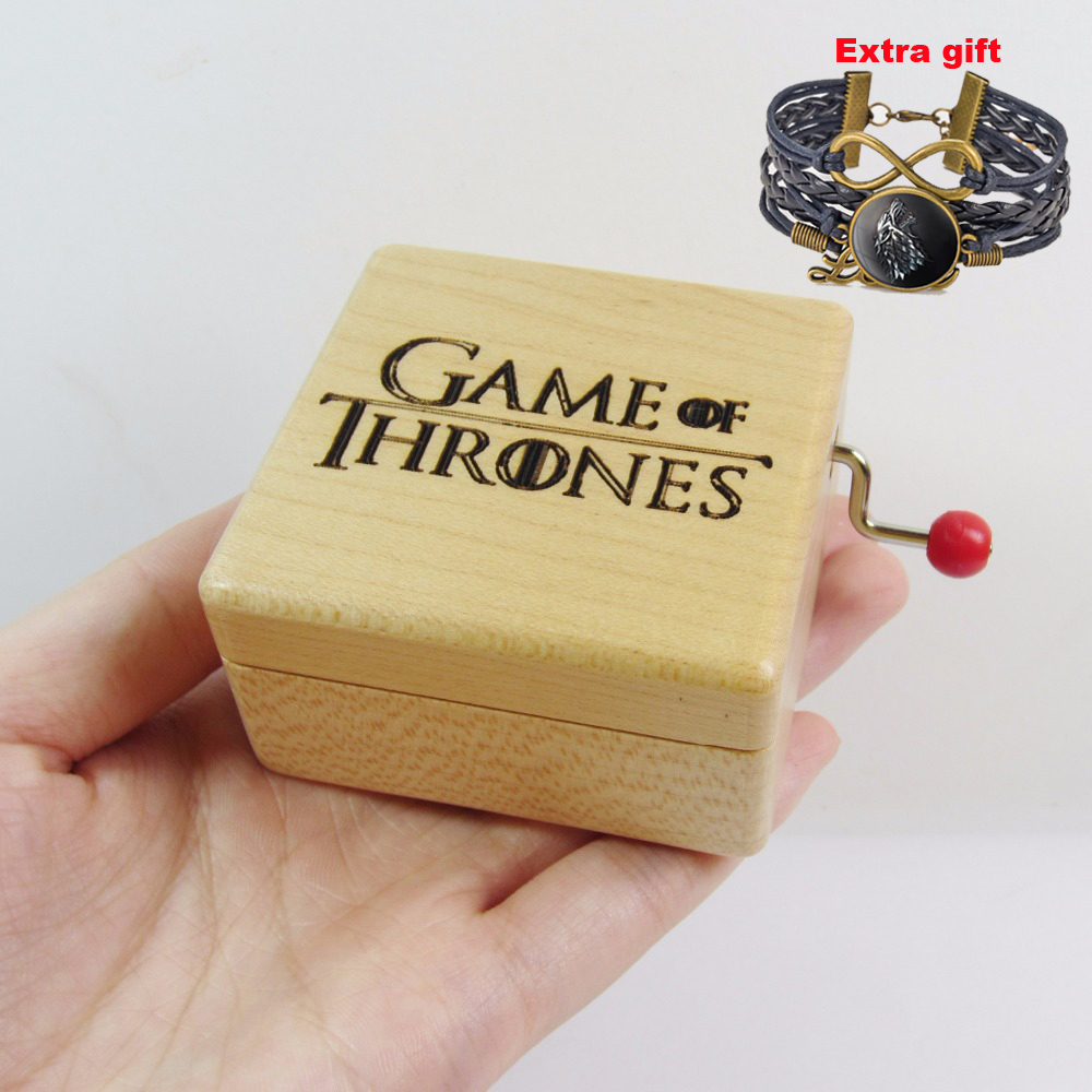 Handmade Game of Thrones wooden <font><b>music</b></font> box special souvenir gift box, birthday gifts free shipping