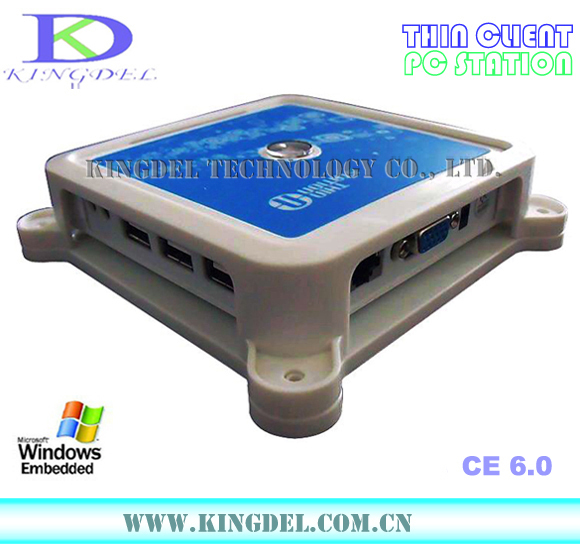 Mini PC, PC Multi User Share, ARM11 800Mhz Processor, Win CE 6.0 OS, 128MB RAM, Microphone, Touchscreen, USB Printer Supported