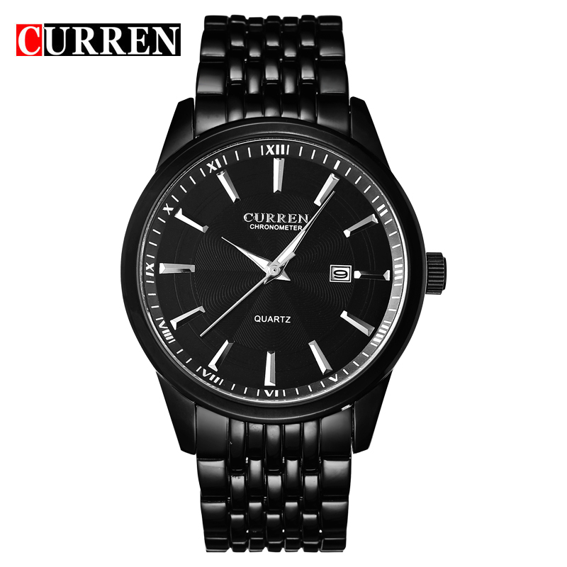 CURREN Luxury Brand Stainless Steel Business Wrist Watches Sports Quartz Watch Men's Watch Men Clock relogio masculino 8052 ybotti luxury brand men stainless steel gold watch men s quartz clock man sports fashion dress wrist watches relogio masculino
