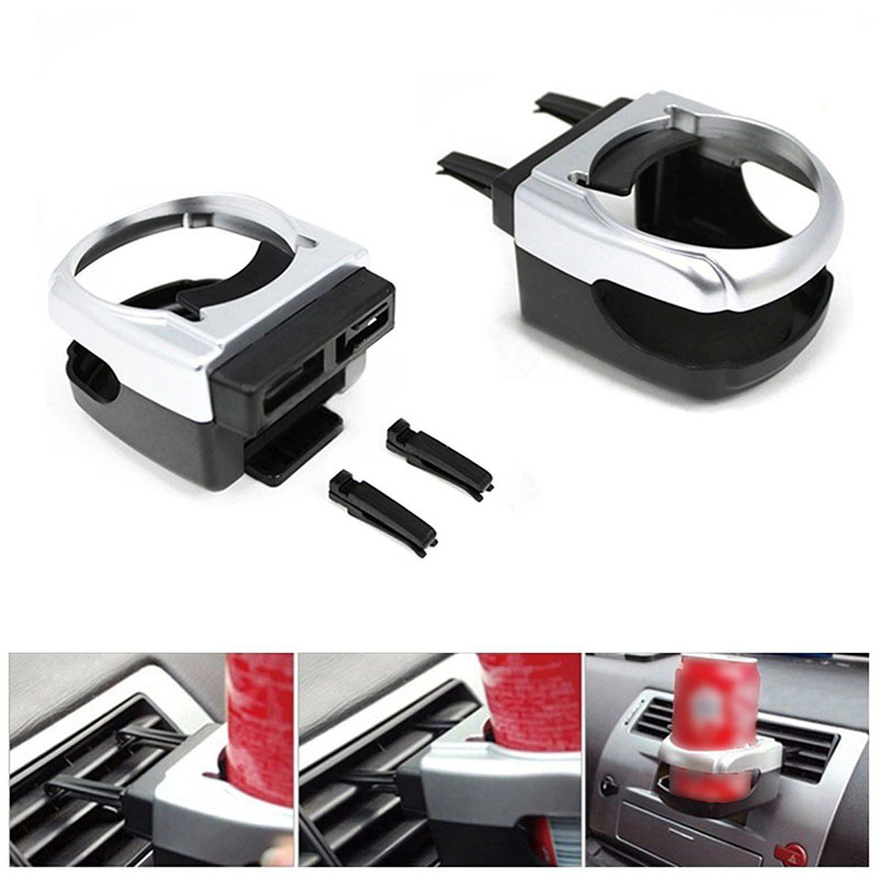 1pcs Universal Plastic Car Air Vent Outlet Cup Drink Bottle Can Holder Stand Mount for Canister Bottle