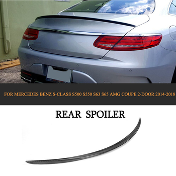 ML Style Car styling Carbon Fiber Rear Wing Boot Lip Roof Spoiler For Mercedes-Benz S Class S500 S63 S65 AMG Coupe 2D 14-18 FRP jc 20130709 1