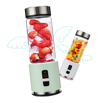 4000 mah usb rechargeable portable glass cup mini personal blender juicer bottle (380ml)