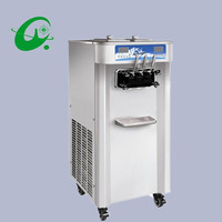 50L/H Big capacity Floor standing Double Separated System 3flavor soft ice cream machine maker commercial use
