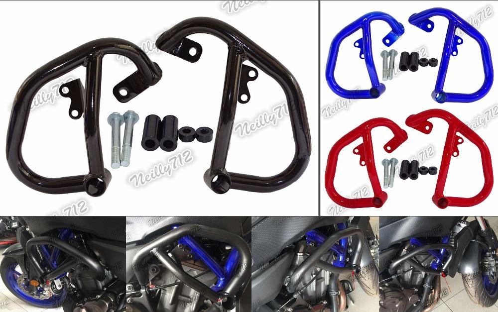 Engine Bumper Guard Crash Bars Protector Steel For YAMAHA MT 07 FZ 07 MT07 FZ07 RM04 2014 2015 ...
