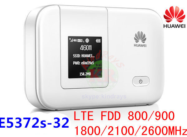 Unlocked HUAWEI E5372 E5372s-32 4G  LTE  Pocket Wifi 3g Pocket Router Mobile Mifi Dongle Hotspot Router 4g Sim Card Slot