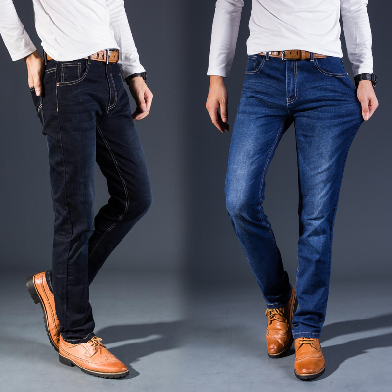 Classic fashion trends, washed cotton, stretch, leisure, two-color jeans, men's trousers (28-38), code package mail shanghai chun shu chunz chun leveled kp1000a 1600v convex plate scr thyristors package mail