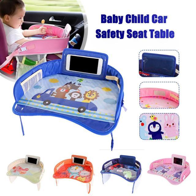 車のベビーシートテーブルポータブル多機能漫画ベビー子供子供車の安全座椅子トレイのおもちゃ食品ドリンク携帯電話ホルダー