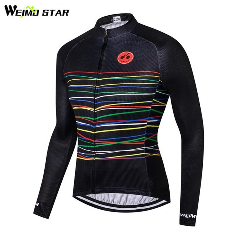 Active 2018 Cycling Jersey Long Sleeve Shirt Black Road Bike T-shirt Mtb Clothes Bicycle Cycling Jersey Cycling Wear Clothes To Produce An Effect Toward Clear Vision