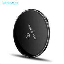 FDGAO Qi Fast Charging Wireless Charger Pad For iPhone 8 Plus X XS Max XR USB Quick Charge 10W For Samsung S8 S9 Note 9 8 Xiaomi