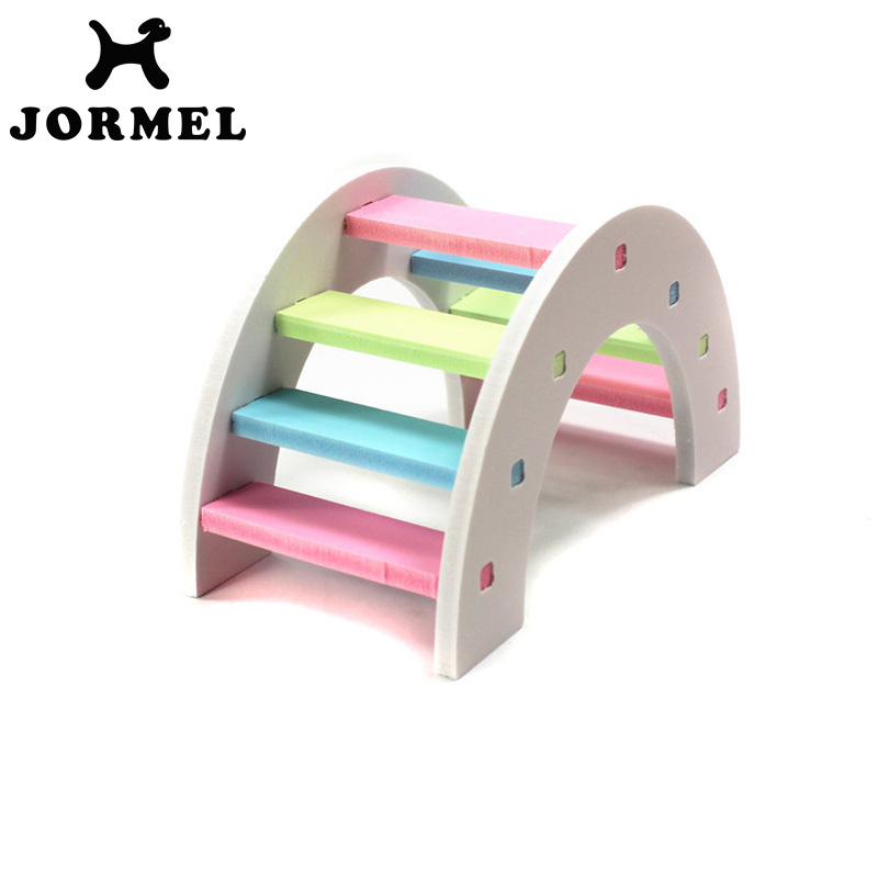 JORMEL Cute Funny Pet Hamster Toys Ecological Wood Molar Toy Rainbow Bridge Toys Decoration Supplies ...