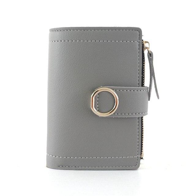 2019 Women Wallets Small Fashion PU Leather Purse Women Ladies Card Bag For Women Clutch Female Purse Money Clip Wallet