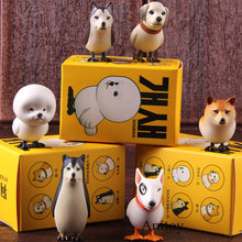 Animal engraçado Dogbird Action Figure Bonito Kawaii Brinquedos Terrierbird Shibabird Retriebird Frisebird Collectible Modelo Toy Set(China)
